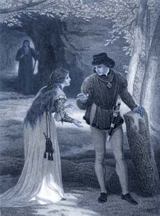 Miranda and Ferdinand courting